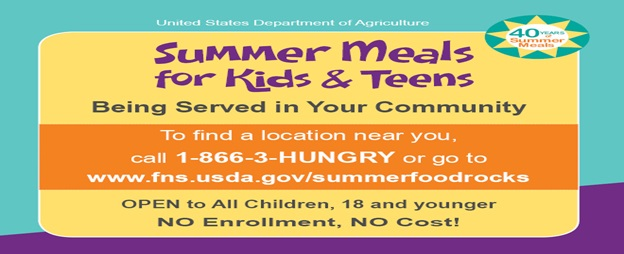 Summer Food Service Program Sites and Dates