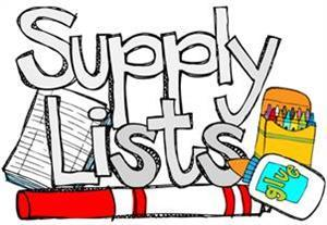 Elementary School Supply Lists Now Posted