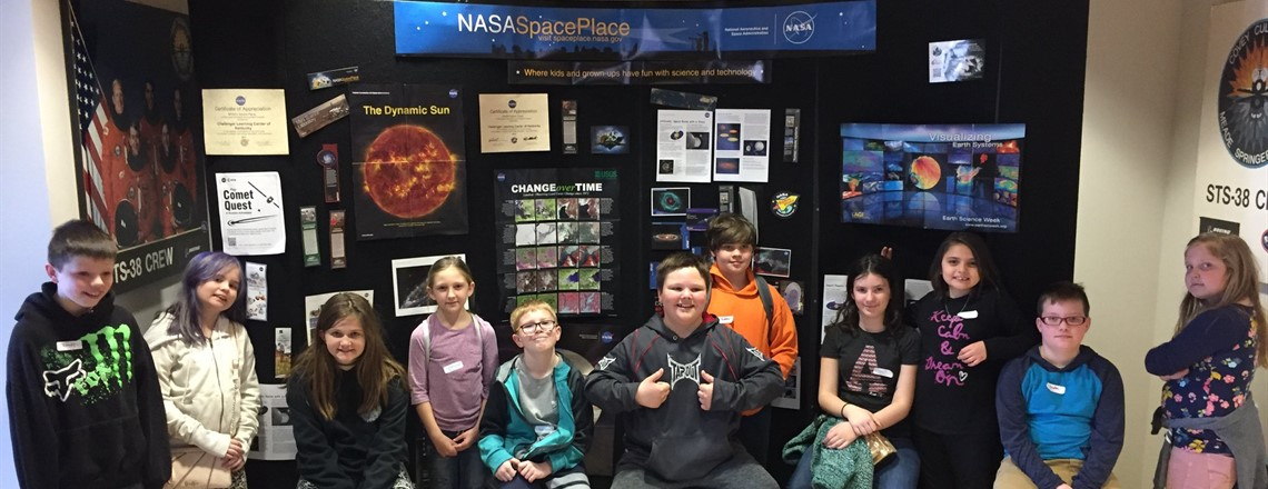 ME K-8 4th Grade Visits the Challenger Learning Center