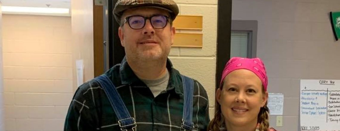 "Mr. & Mrs. Manley as the farmer and his wife from the ""Farmer in the Dell"""
