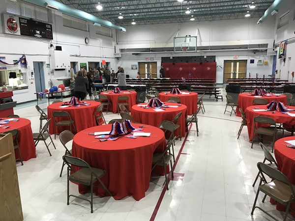 2016 Veterans Day Breakfast Setup