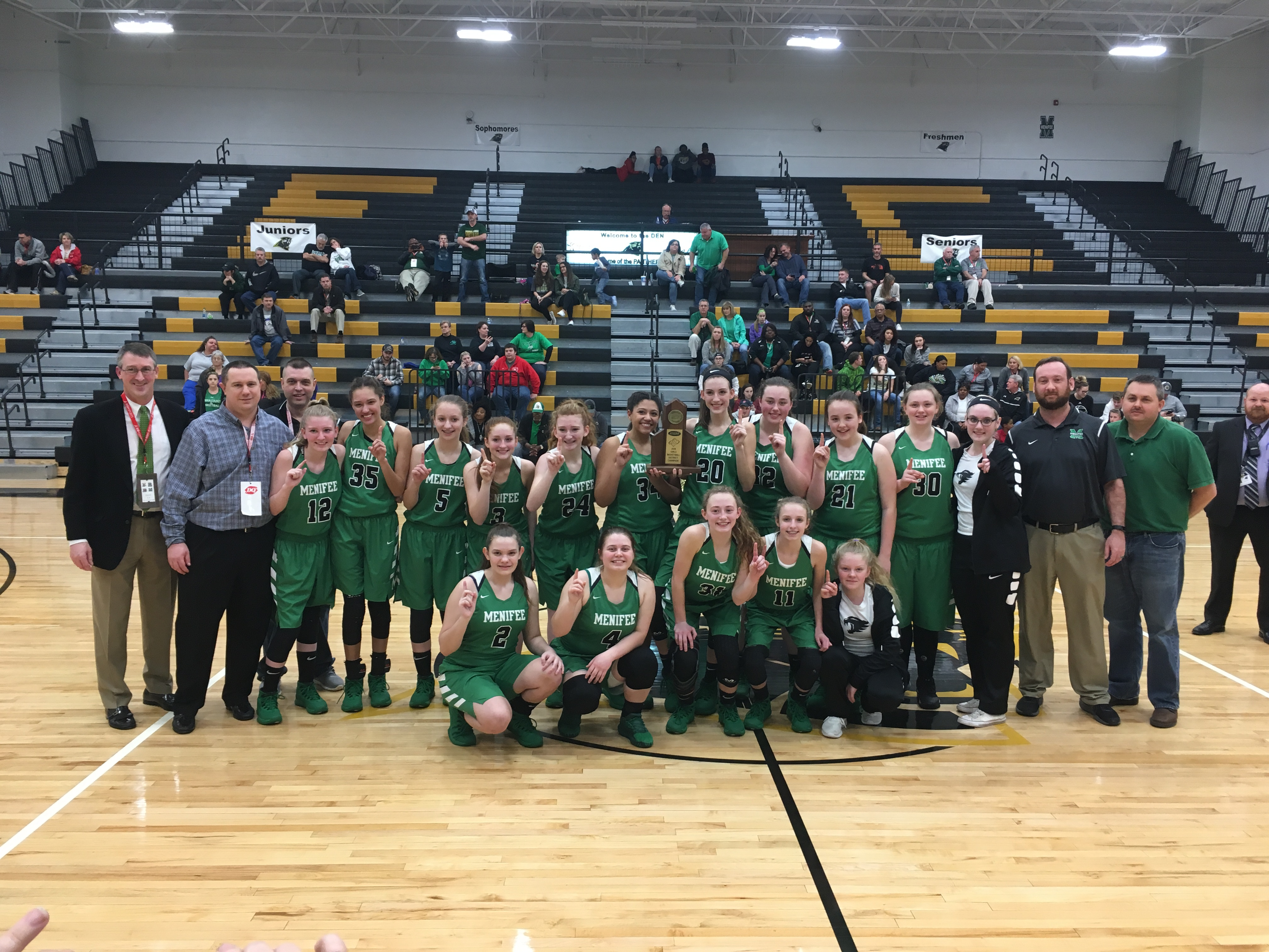 MCHS Ladycats 2018 61st District Champions